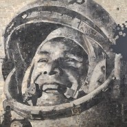 Алексей Бегак. «Гагарин».Коллаж. Газеты за 13.04.1961
