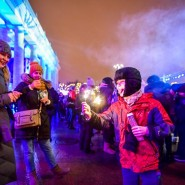 Новогодняя ночь в Парке Горького 2018 фотографии