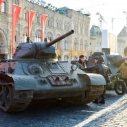 Марш в честь 77-летия парада 1941 года на Красной площади фотографии