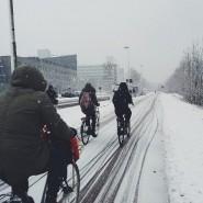 Всемирная зимняя акция «На работу на велосипеде» 2018 фотографии
