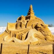 Выставка скульптур из песка в Коломенском 2016 фотографии