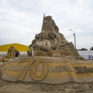 Выставка скульптур из песка в Коломенском фотографии