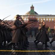 Марш в честь 78-летия парада 1941 года на Красной площади фотографии