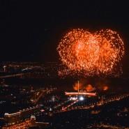 Салют на 9 мая с высоты птичьего полета 2019 фотографии