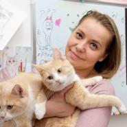 Выставка кошек «Половинки» фотографии