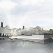 Зеленый театр ВДНХ. Сцена на воде фотографии