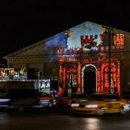 Световое шоу к 9 мая на здании Манежа 2018 фотографии