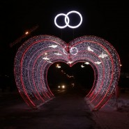 Световой тоннель в Парке Победы 2017 фотографии