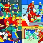 Выставка «Футбол — Хоккей» фотографии