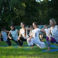 Йога в парках Москвы 2020 фотографии