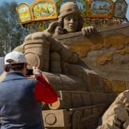 Выставка скульптур из песка в Коломенском 2017 фотографии