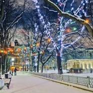 Новогодняя ночь 2018 в парках Москвы фотографии