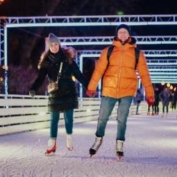 Акция «Ночь на катке» в Парке Горького 2020