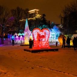 Выставка ледяных скульптур «Ледяной город» 2018