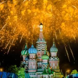 Салют на 9 мая в Москве 2019