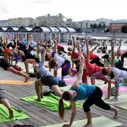 Йога в парках Москвы 2017