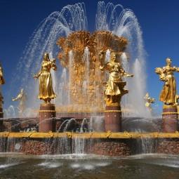 Открытие сезона фонтанов в Москве 2017