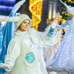 Новогодние гулянья в Москве 2020