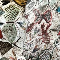 Выставка «Рисунки на обоях: музей вымышленных существ»