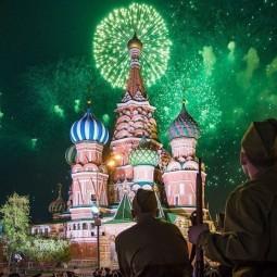 Салют на 9 мая в Москве 2018