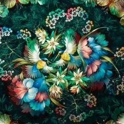 Выставка «Цветы и птицы»