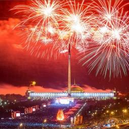 Онлайн-трансляция салюта 9 мая на Поклонной горе 2020