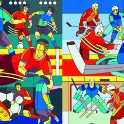 Выставка «Футбол — Хоккей»