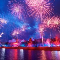 Новогодний салют 2016 в Москве