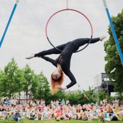 Фестиваль воздушной гимнастики в Парке Горького 2019