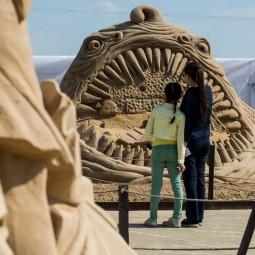 Выставка скульптур из песка в Коломенском 2017