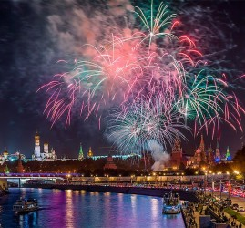 Салют на День города Москвы 2017