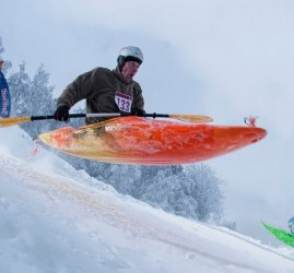 Cоревнования по снежному каякингу 2018