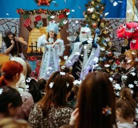 Новогодние праздники впарке аттракционов Happylon в ТРК VEGAS