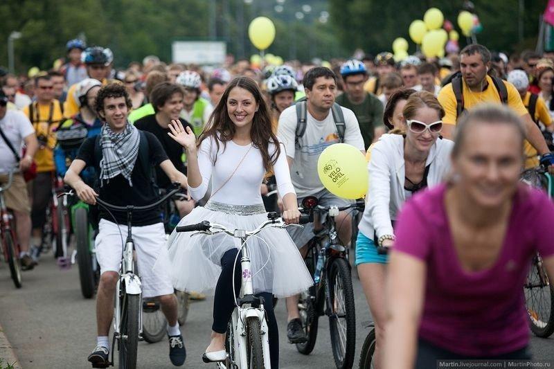 VМосковский велопарад