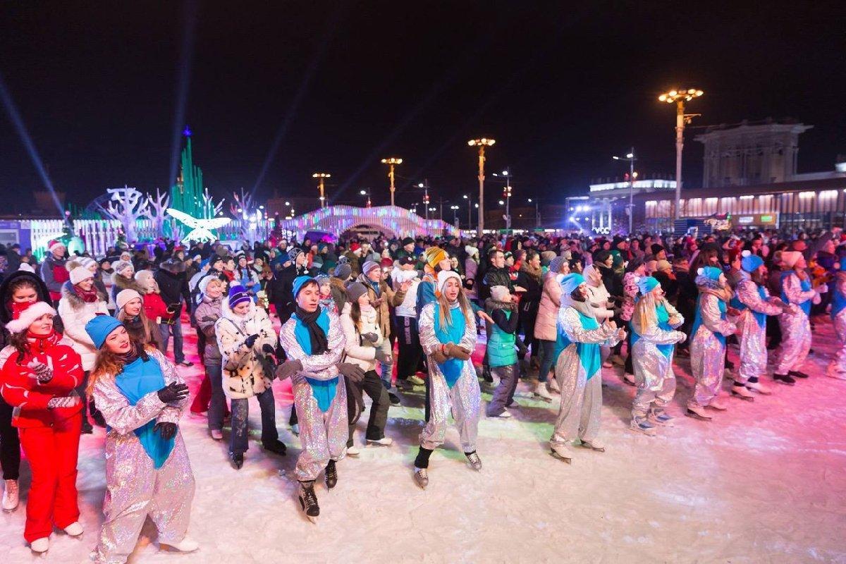 Старый Новый год накатке ВДНХ 2017