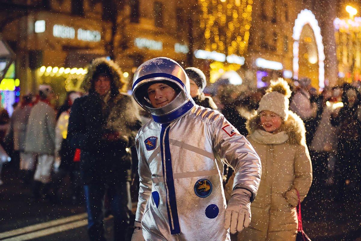 Новогодние гулянья вМоскве 2020