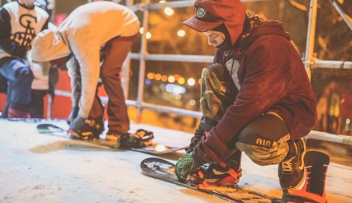 Открытие сноуборд-парка CITY SPOT вПарке Горького 2016