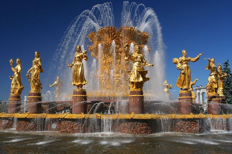Открытие сезона фонтанов вМоскве 2017