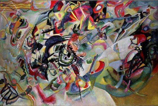 В.В.Кандинский «Композиция VII» 1913 г. Холст, масло. 200 × 300 см. Государственная Третьяковская галерея, Москва