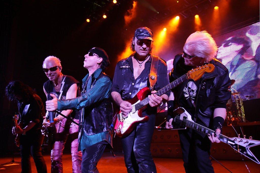 Концерт группы The Scorpions вМоскве 2017