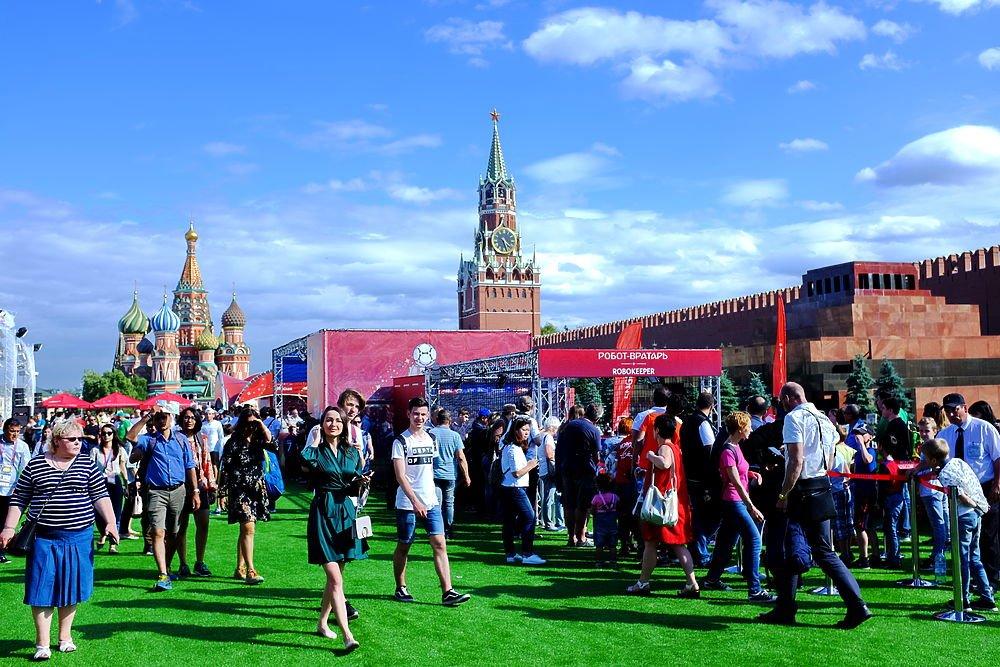 Парк футбола ЧМ-2018 наКрасной площади