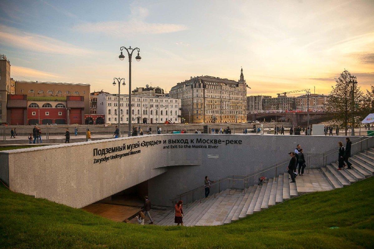 Подземный музей парка «Зарядье»