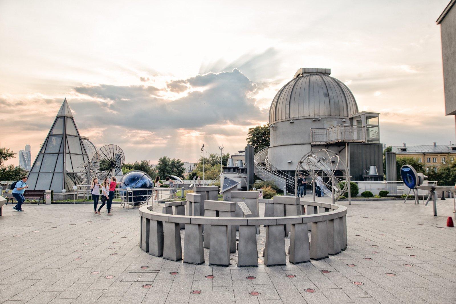 Открытие Парка Неба иБольшой обсерватории вПланетарии 2016