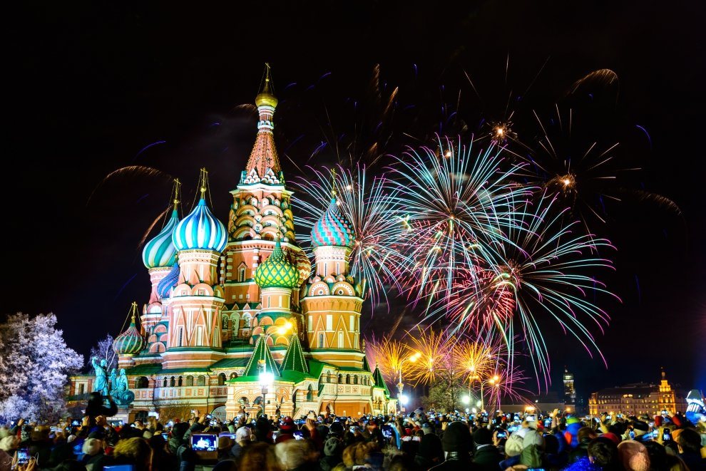 Салют на Новый год 2019 в Москве в 2019 году