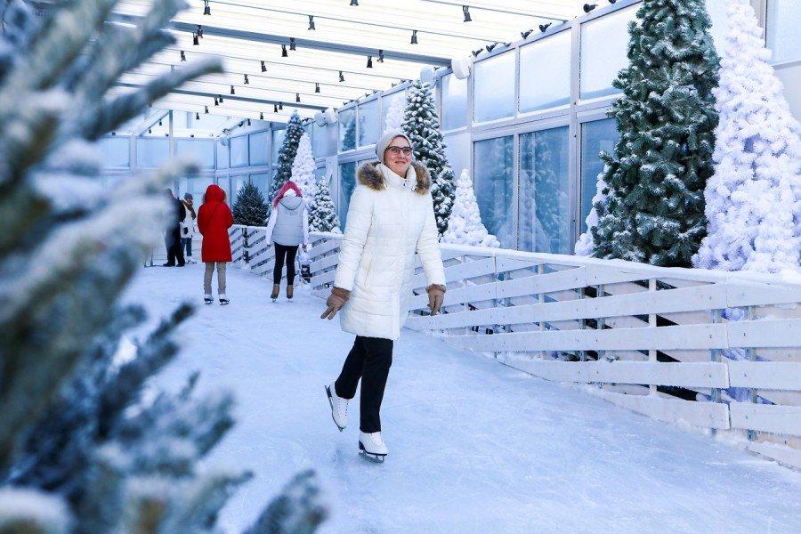 Каток накрыше «Москва-Сити» 2016