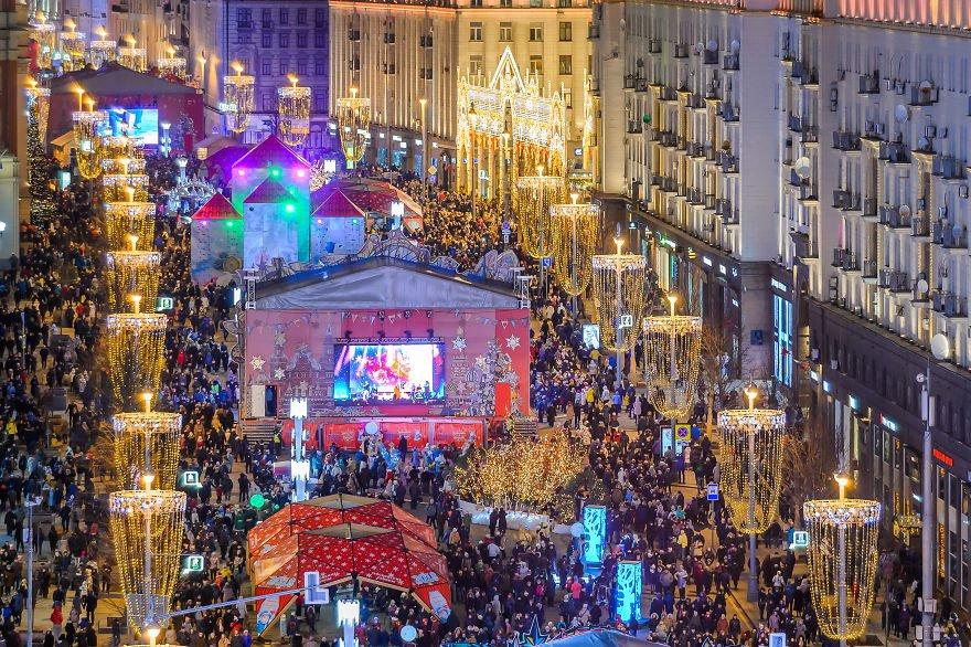 Новогодняя ночь 2019 вМоскве