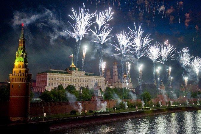Салют на9 мая вМоскве 2017