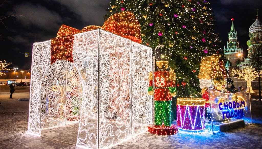 Новогодняя ночь 2019 впарке «Зарядье»
