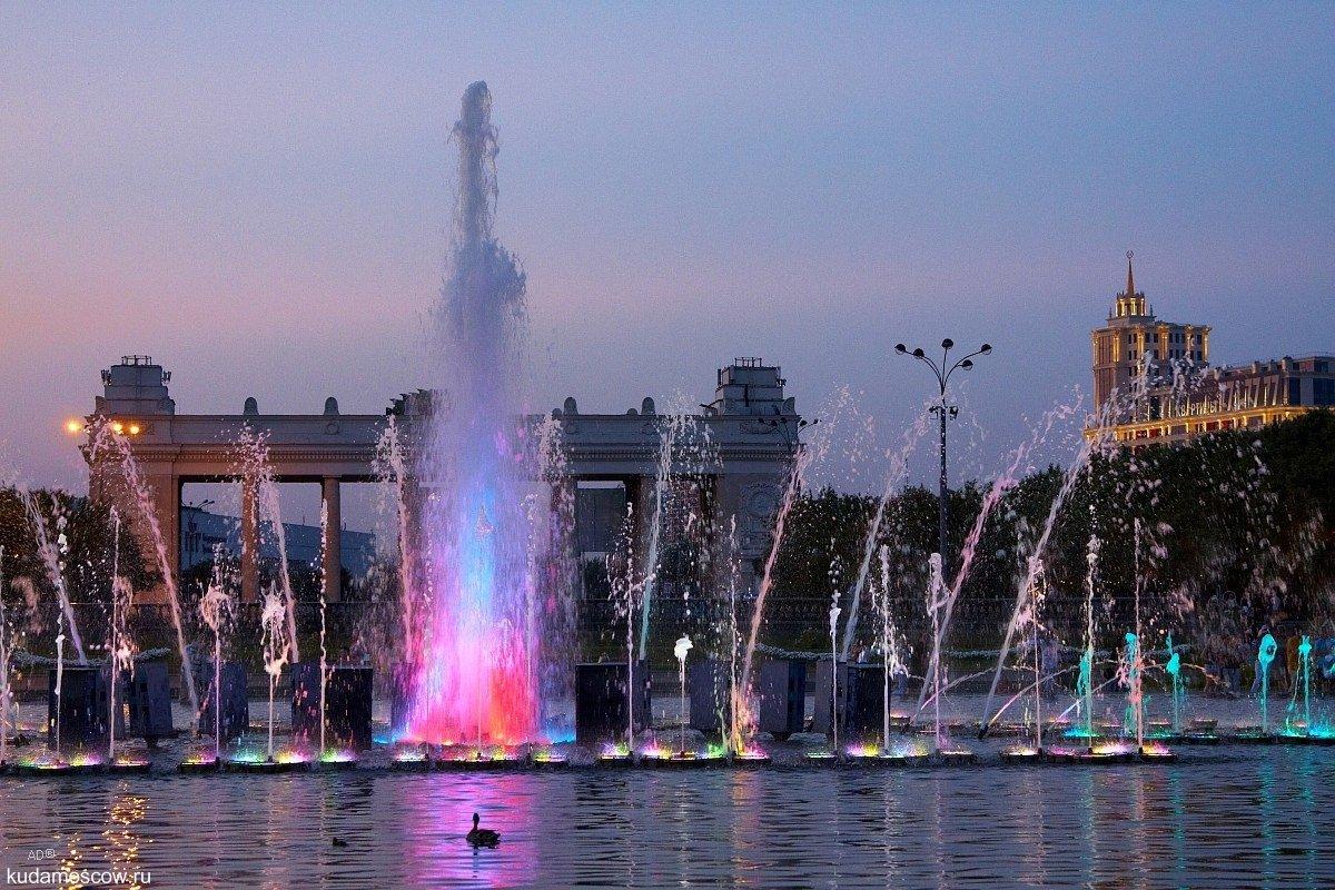 Открытие сезона фонтанов вМоскве 2016