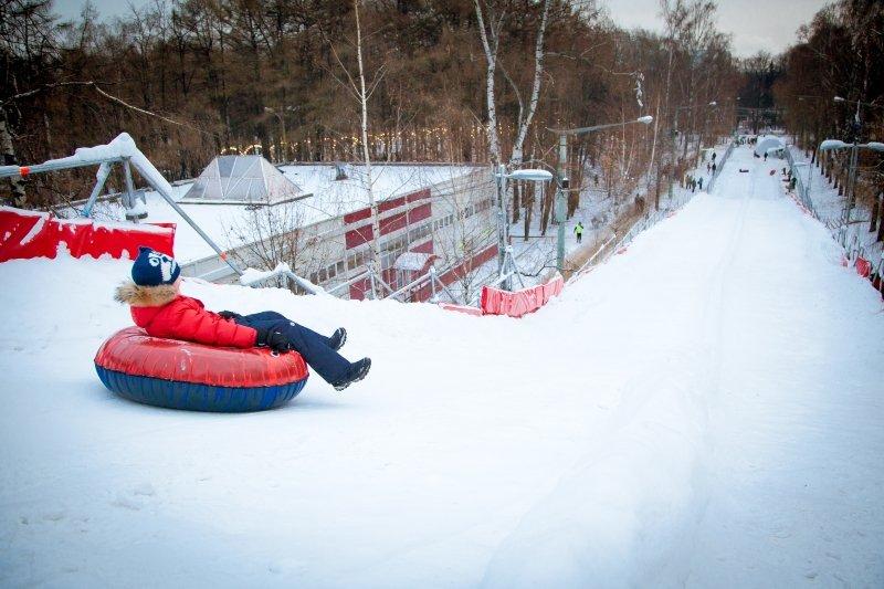 Самые большие горки вМоскве 2015